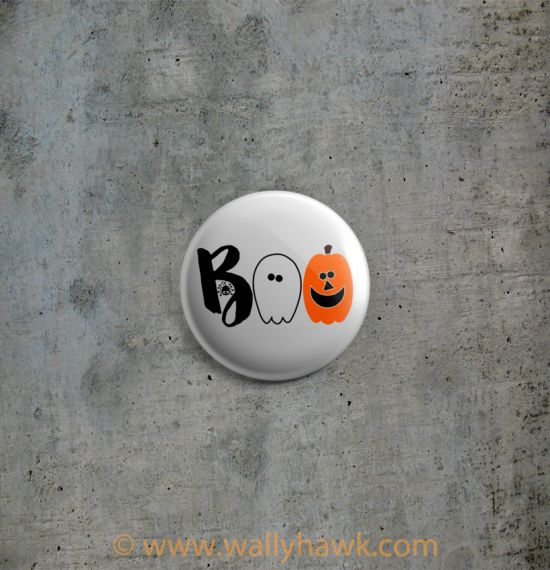 Boo Cute Halloween Button