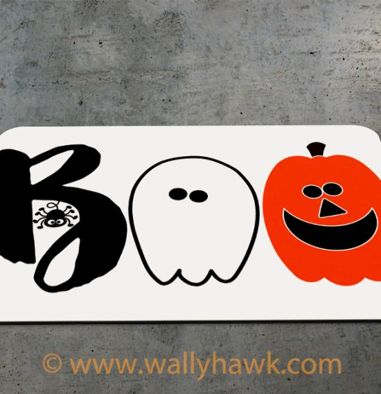 Boo Cute Halloween Mousepad