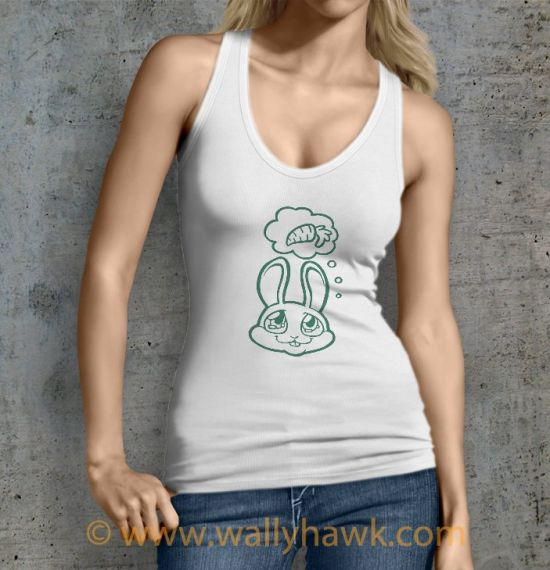 Bunny Dreams Tank Top - Female White