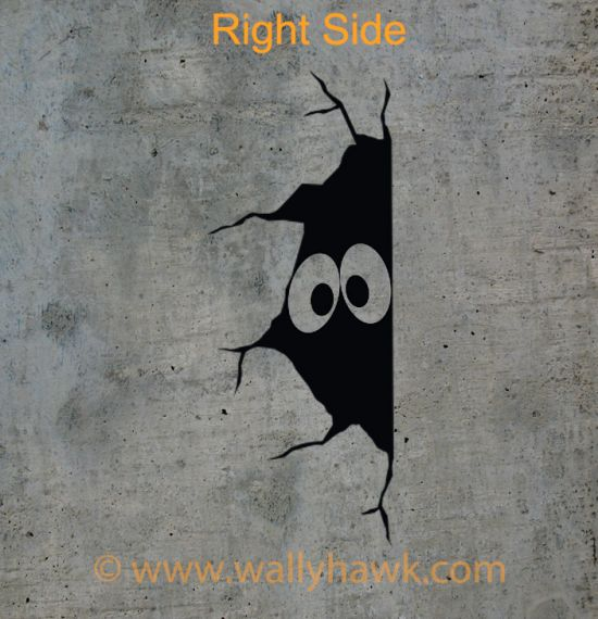 Creepy Eyes Decal - Right Side