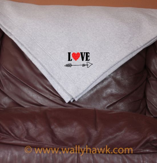 Cupid's Arrow Blanket - Gray
