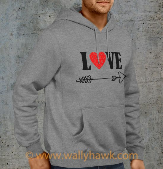 Cupid's Arrow Hoodie - Gray Right