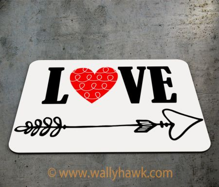 Cupid's Arrow Mousepad - 2