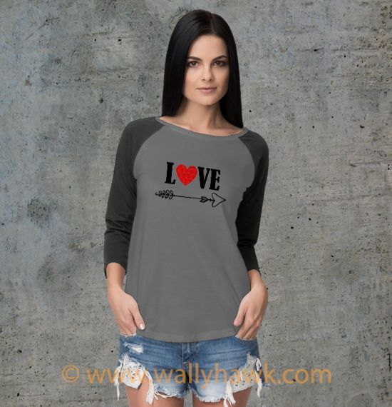 Cupid's Arrow Shirt - Raglan Gray