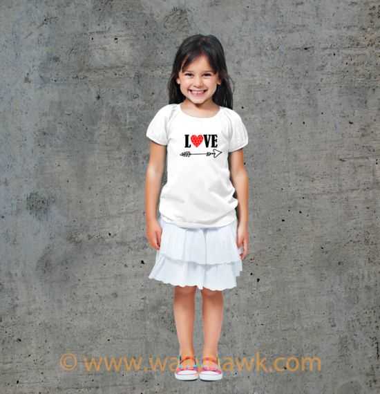 Cupid's Arrow Youth Shirt - Girl White