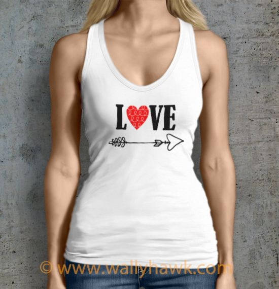Cupid's Arrow Tank Top - Female White