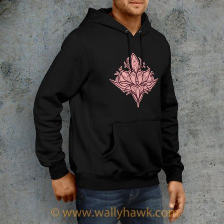 Damask Lily Hoodie - Right