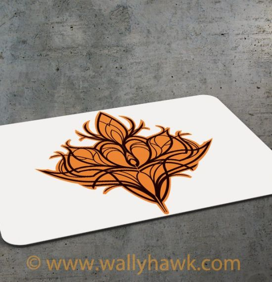 Damask Lily Mousepad - 1
