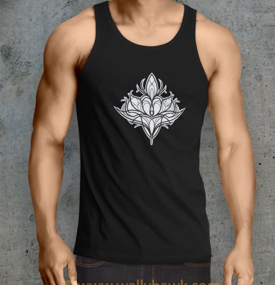 Damask Lily Tank Top - Male Black