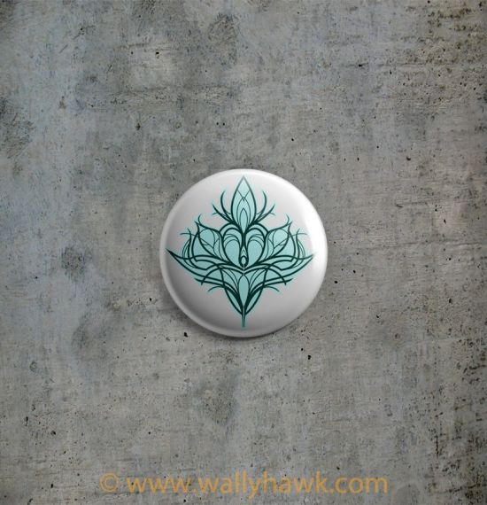 Damask Lily Button