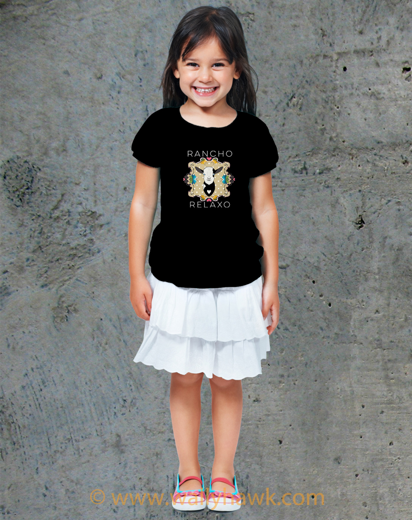 Dean the Goat Youth Shirt - Girl Black