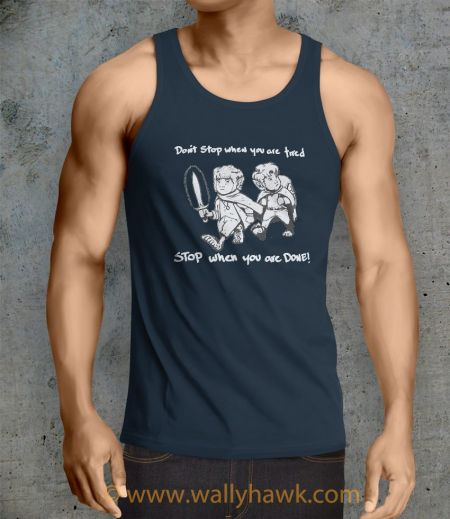 Don't Stop Tank Top - Male Navy