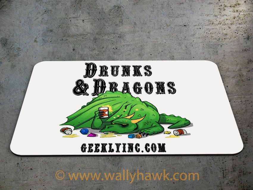 Drunk Dragon Mousepad - 2