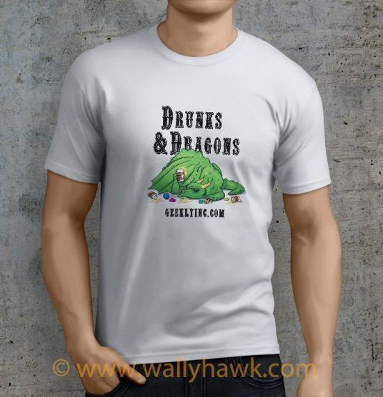 Drunk Dragon Shirt - Male White