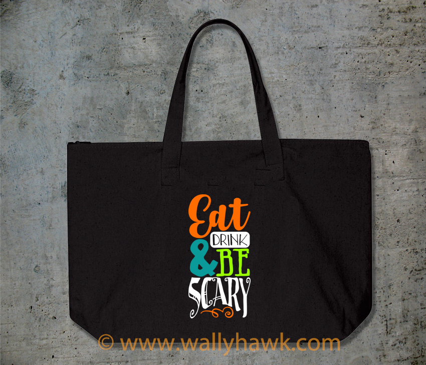 Eat Drink Scary Tote