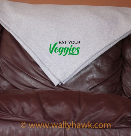 Eat Your Veggies Blanket - Gray