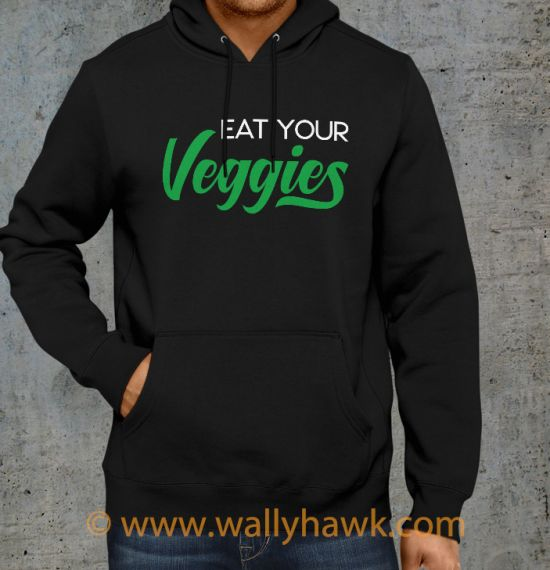 Eat Your Veggies Hoodie - Black