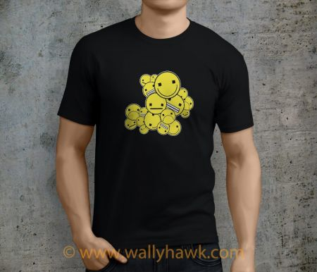 Emoticon Cluster Shirt - Male Black