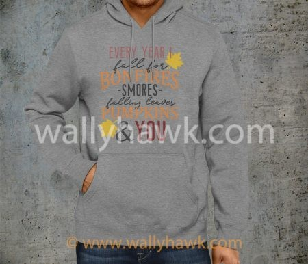 Fall For You Hoodie - Gray 2