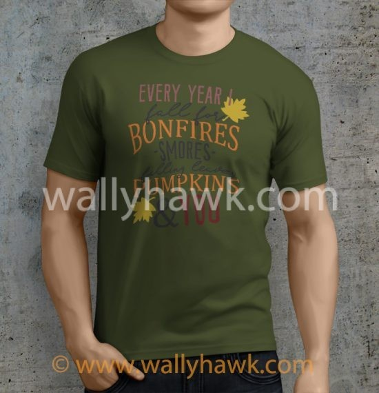 Fall For You Shirt - Male Mil Green
