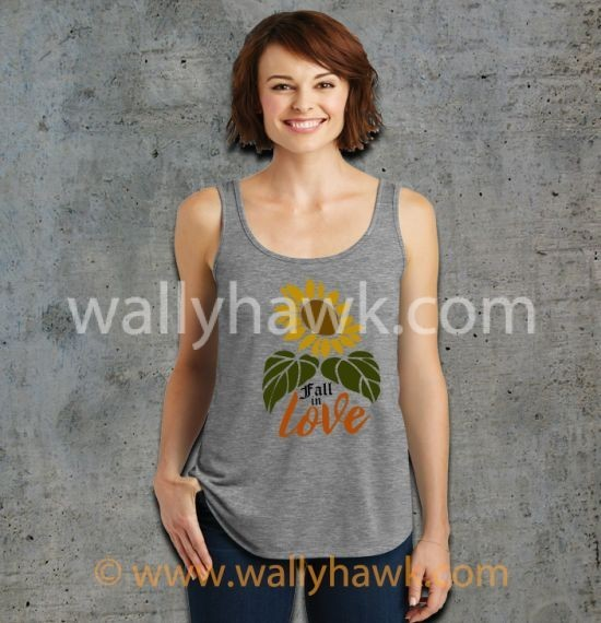 Fall in Love Tank Top - Female Gray