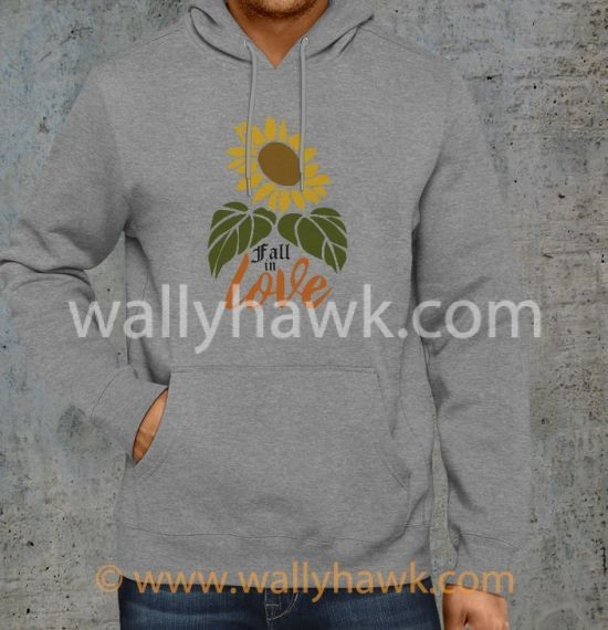 Fall in Love Hoodie - Gray