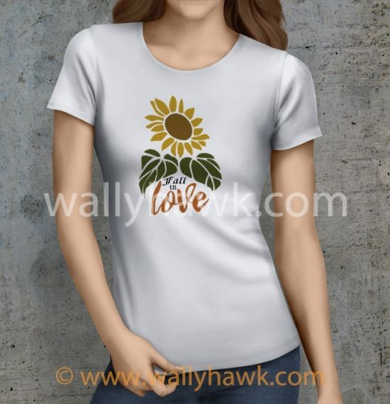Fall in Love Shirt - Female White