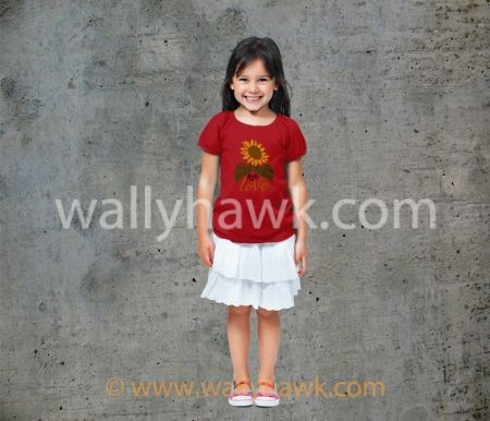 Fall in Love Youth Shirt - Girl Red