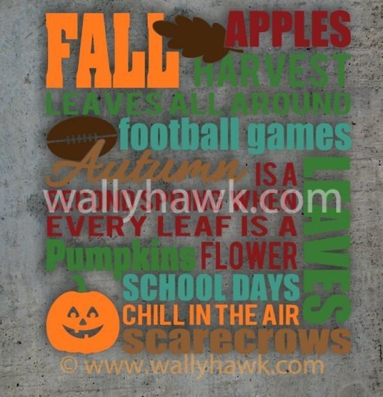 Fall Subway Decal