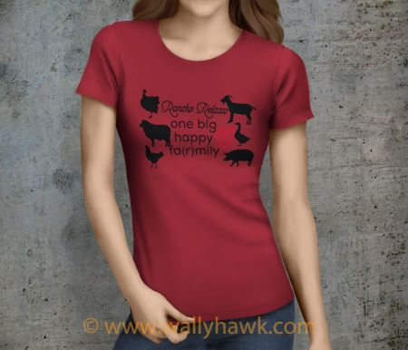Farmily Shirt - Female Crimson