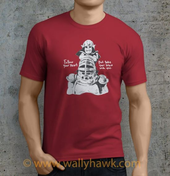 Follow Your Heart Shirt - Male Crimson