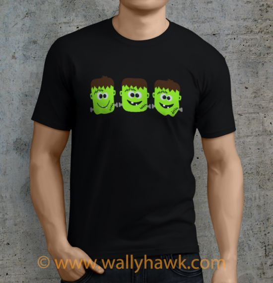 Frankenstein Shirt - Male Black