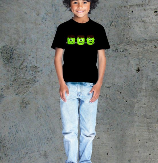 Frankenstein Youth Shirt - Boy Black