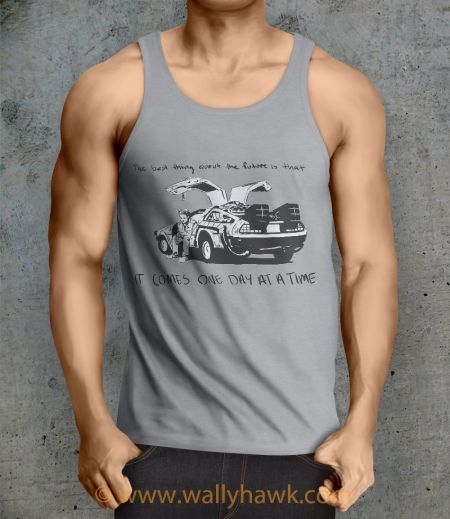 Future Tank Top - Male Ash Gray