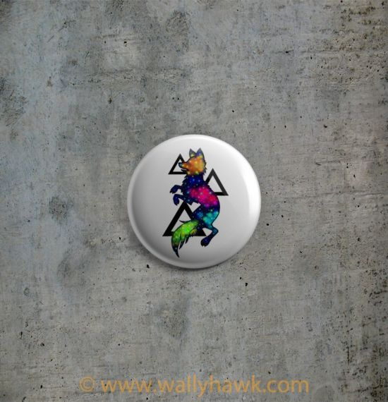 Galaxy Wolf Button