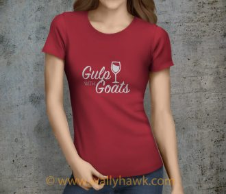 Gulp with Goats Shirt - Crimson Female