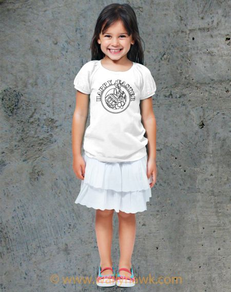 Classic Easter Circle - Coloring Book Shirts - Girl