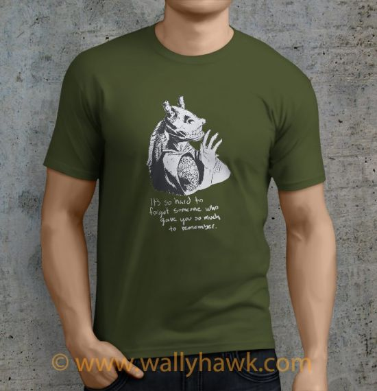 Hard To Forget Shirt - Male Military Green