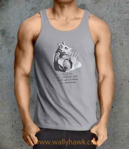 Hard To Forget Tank Top - Male Ash Gray