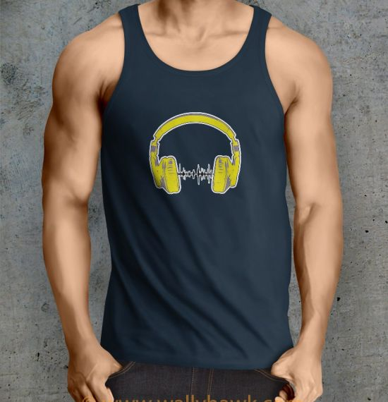 Headphones Tank Top - Male Navy