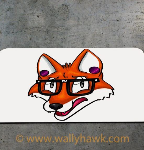 Hipster Fox Mousepad - 2