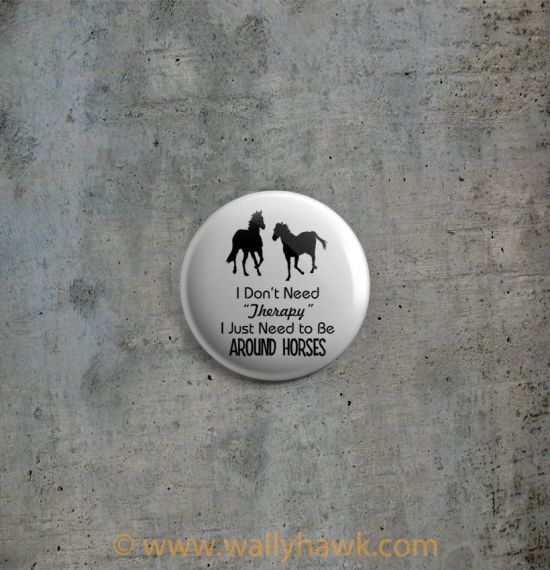 Horse Therapy Button