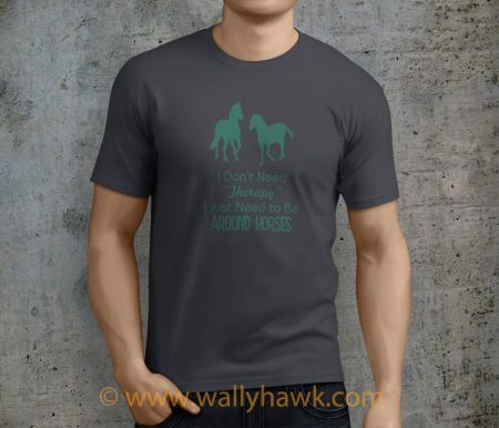 Horse Therapy Shirt - Male Charcoal