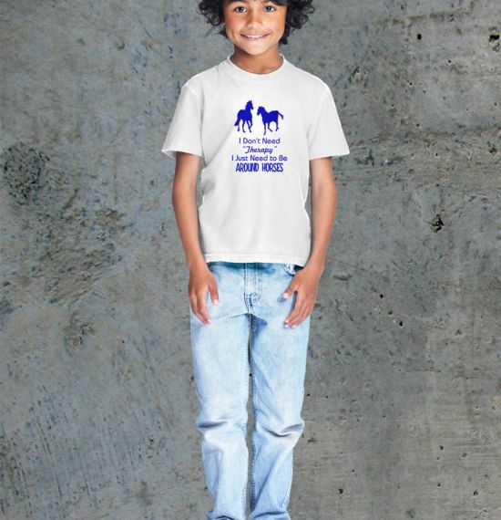 Horse Therapy Youth Shirt - Male White