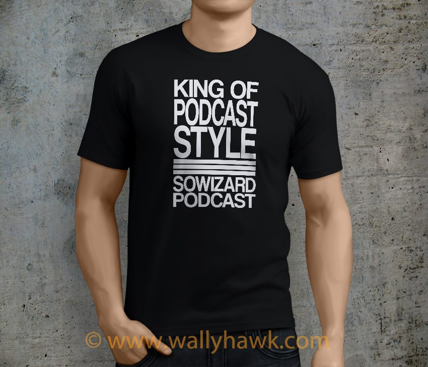 King of Podcast Style Shirt - Black Male