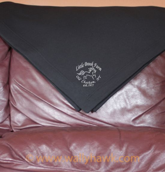 Little Brook Farm Logo Blanket - Black