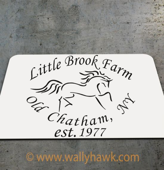 Little Brook Farm Logo Mousepad - 2