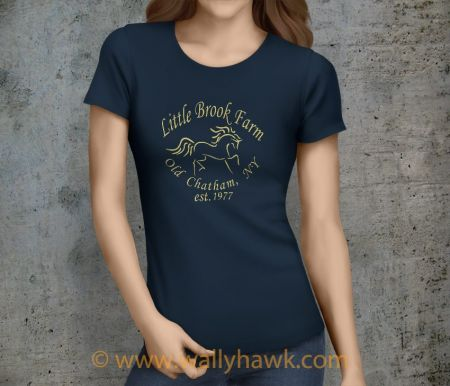 Little Brook Farm Logo Shirt - Female Navy