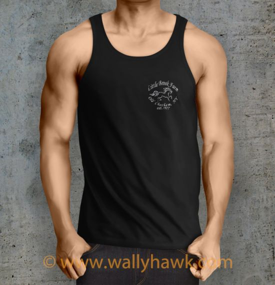 Little Brook Farm Logo Tank Top - Male Black