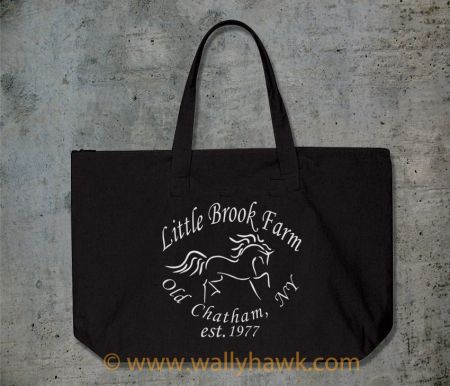 Little Brook Farm Logo Tote